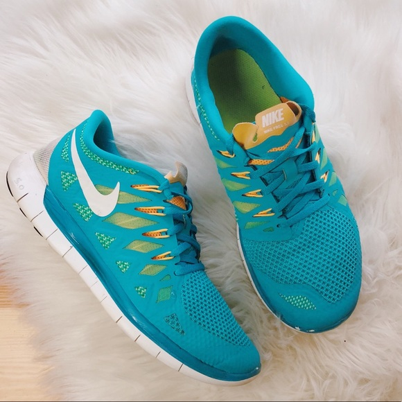 huge discount a30f1 73cc5 nike free run 5.0 teal and orange running shoes